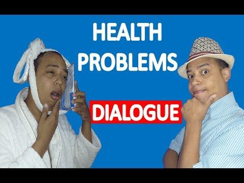HEALTH PROBLEMS ENGLISH VOCABULARY DIALOGUE IN ENGLISH DIALOGO EN INGLÉS