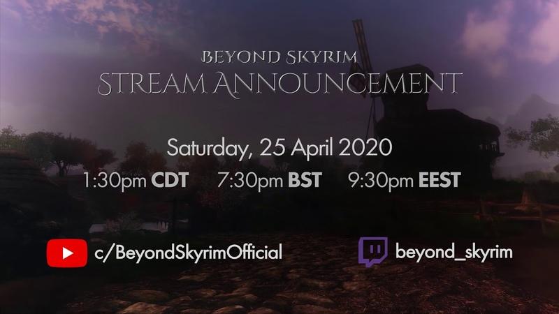 Stream Announcement, 25 April at 7:30pm BST