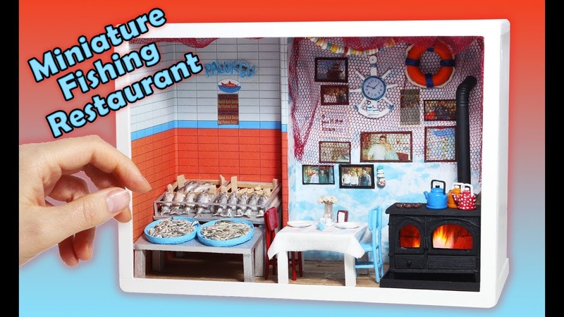 Miniature Fishing Restaurant Polymer Clay Fish Minyatür Balıkçı dükkanı PALUKÇU
