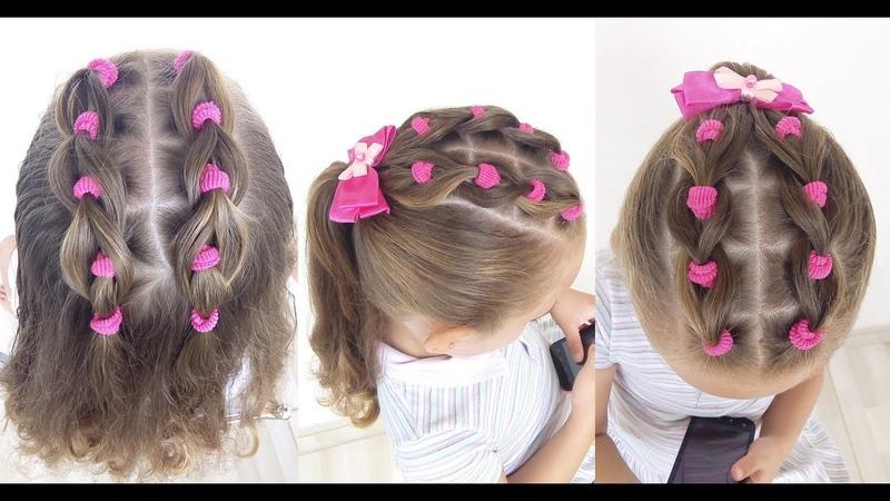 Penteado Infantil fácil de amarradinhos com cabelo solto ou preso