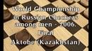 Tokusarov Ivan (RUS) - Kibartas Andrus (LTU). World_Russian Checkers_Men-2006. Final.