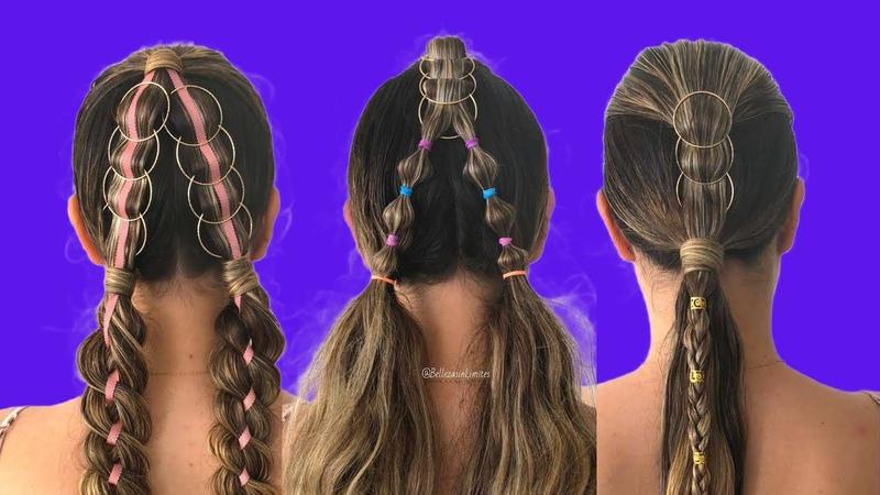 Peinados con Aros Decorativos para Niñas ⭕😍 Peinadas para Fiesta 👧👗
