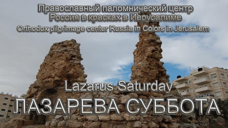 Святая Земля Лазарева суббота Holy Land Lazarus Saturday
