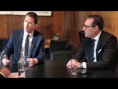Kurz und Strache im VN-Interview Migration, Mindestsicherung, BVT
