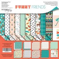 Набор двусторонней бумаги 30х30см от Scrapmir Funny Friends 10л 380 р В наличии 1 шт