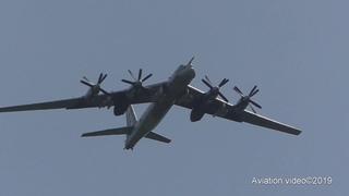 ТУ-95МС Полет на открытие памятника самолету ТУ-144 СССР-77114 в Жуковском