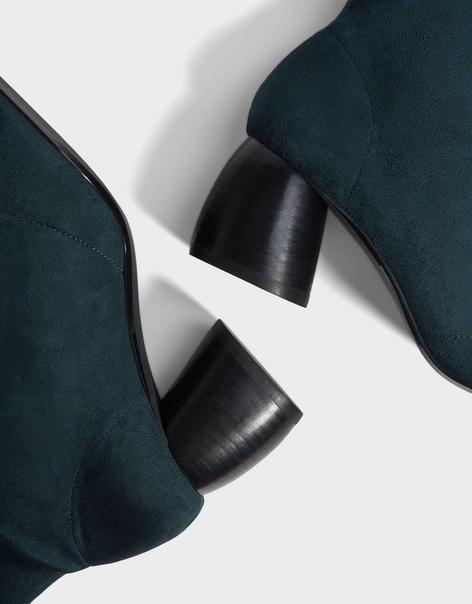 Ботильоны-чулки на каблуке