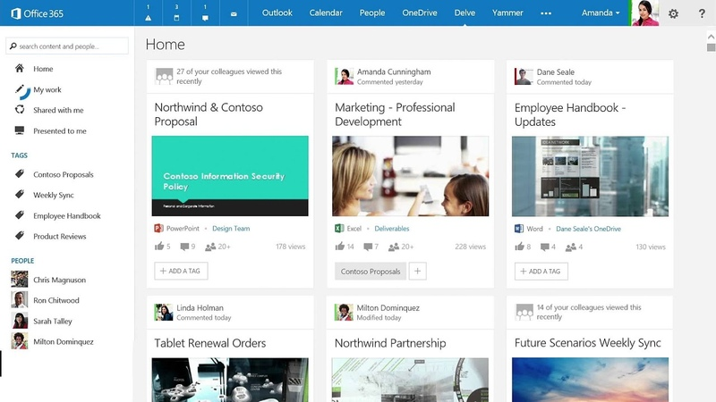 Introducing Office Delve