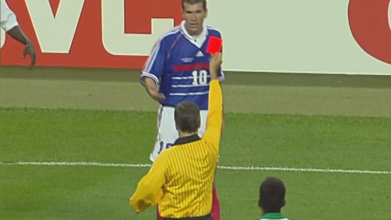 Zidane's Red Card France vs Saudi Arabia FIFA World Cup 1998