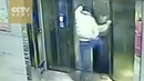 Man kicks elevator door, has a free fall