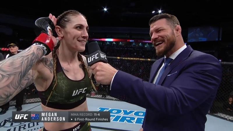 UFC Norfolk Megan Anderson Octagon Interview