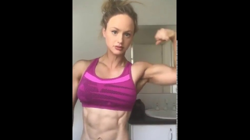 Biceps Female Muscle Bodybuilder Veins Girl Woman Muscles Beautiful Abs Glutes Ripped Strong