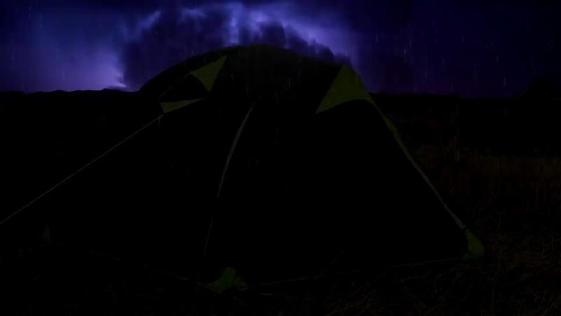 ⚡️ Fırtına ve yağmur rahat uyku için sesler ~ yıldırım damla sağanak tuval ambiyans