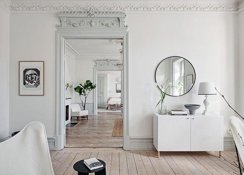 Как оживить классический интерьер с помощью пастельных оттенков: квартира в Швеции || 01