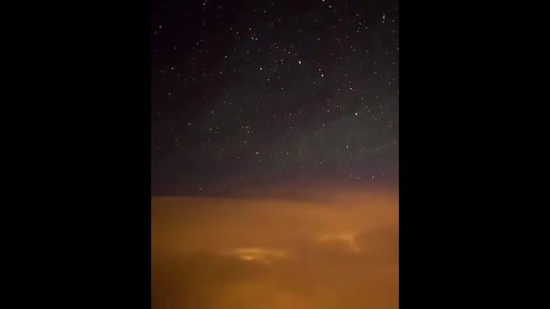 Desde el asiento de un piloto lluvia de meteoros París Francia
