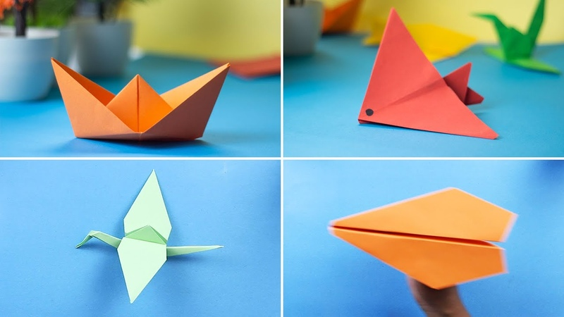 How to Make Paper Toys Paper Airplane and Paper Boat Origami Crane and Origami Fish 92 Crafts
