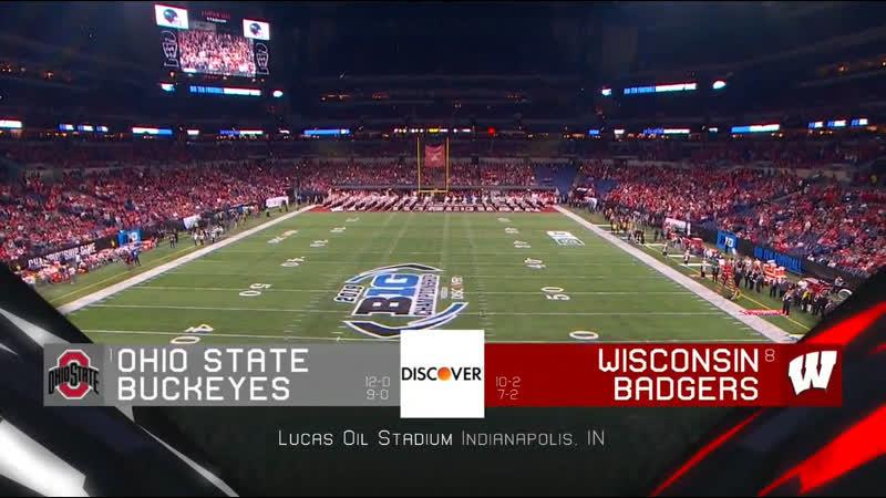 NCAAF 2019 / Week 15 / Big Ten Championship / (1) Ohio State Buckeyes - (8) Wisconsin Badgers / 2H / EN