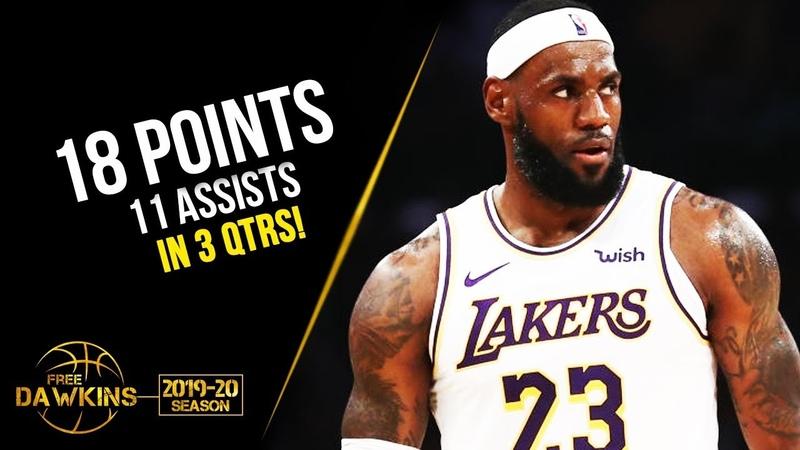 LeBron James Full Highlights 2019.10.16 Lakers vs Warriors - 18 Pts, 11 Asts! | FreeDawkins