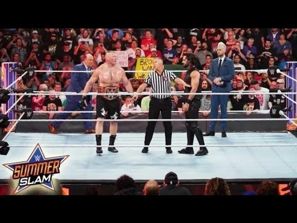 Seth Rollins vs Brock Lesnar Universal title Full Match WWE Summer Slam 2019 Full Show