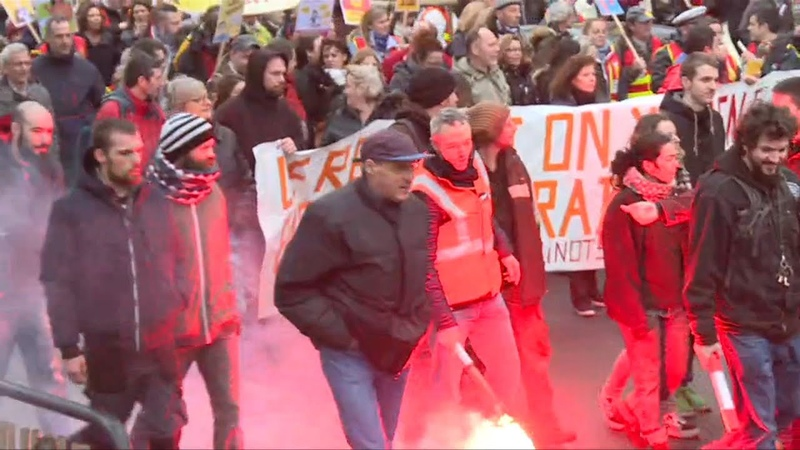 Anti pension reform protest gets underway in Nantes AFP