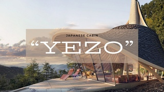 """This project house, the """"YEZO,"""" is a cabin located in mountainous Japan"""