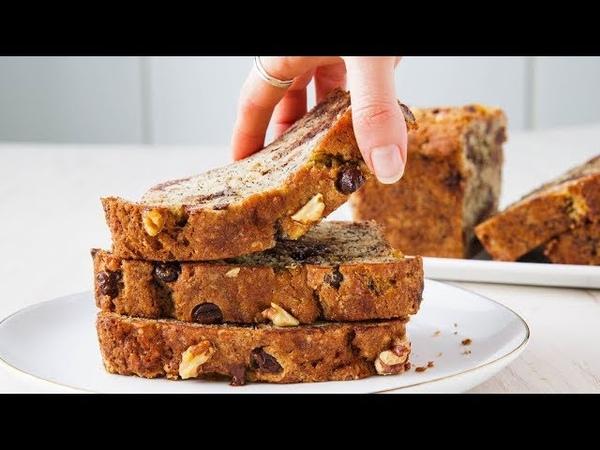Банановый хлеб (кекс) с кусочками шоколада, грецкими орехами | How To Make Perfect Chocolate Chip Banana Bread Every Time | Delish Insanely Easy