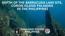 Depth of the Barracuda Lake site, Coron Island Palawan in the Philippines with Thailand Diving club