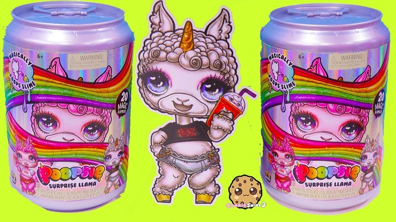 ОБЗОР Giant Soda Can Poopsie Surprise Llama Mix Make Easy Slime