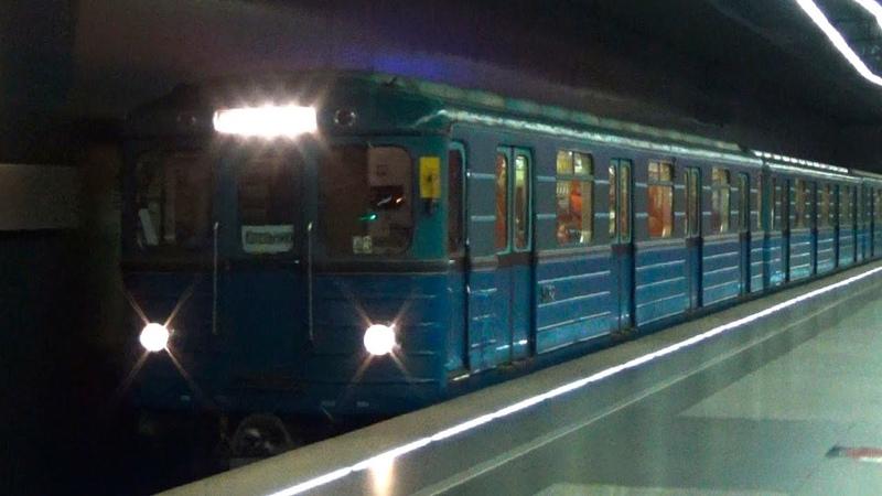 Электропоезд 81 710 ЕЖ 3 Ем 508т №43 на станции метро Жулебино