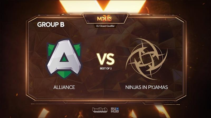 Alliance vs Ninjas in Pyjamas, MDL Chengdu Major Qualifier, bo2, game 1 [4ce]