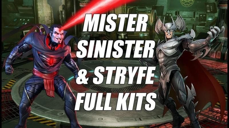 MISTER SINISTER AND STRYFE FULL KIT REVEAL GAMEPLAY Marvel Strike Force