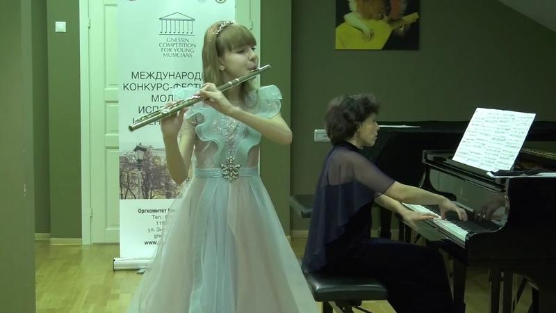 В А Моцарт Соната фа мажор 1 ч Исп Евангелина Махринова флейта Ольга Бер ф но 5 12 2019