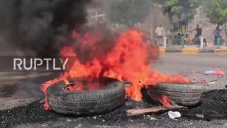 Yemen: Demonstrators burn tyres at Aden water shortage protest