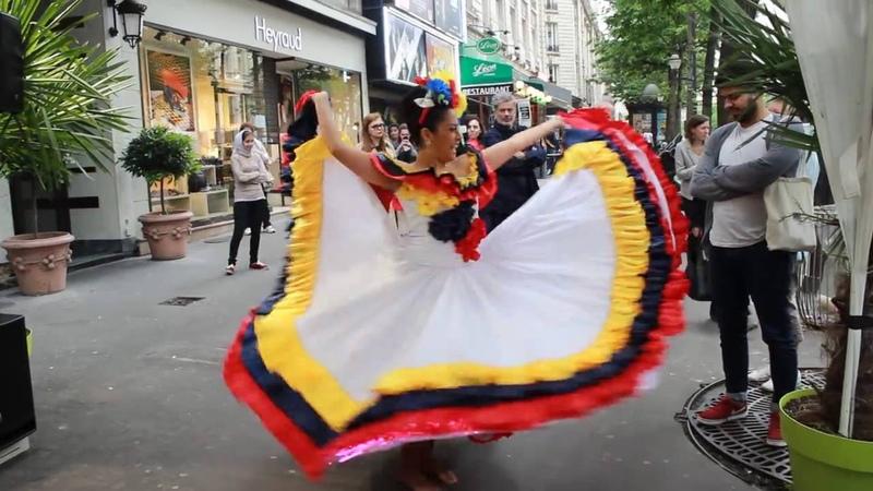 Cumbia Colombiana 1 milliones de vista Calisabor Paris France Francy Barahona