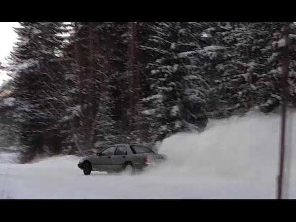 Ford Sierra ohc pinto Drift 2 0 winter fun LPG snow drift