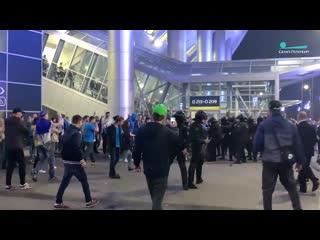 Столкновение у стадиона на Крестовском