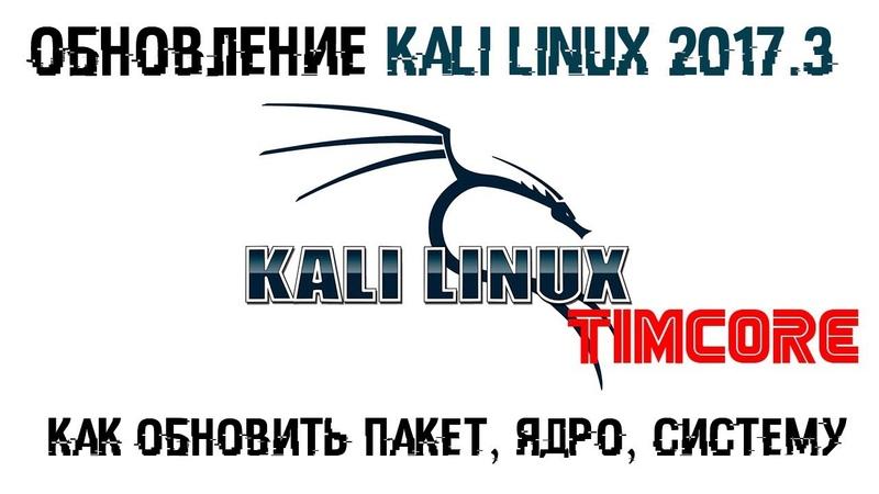 Обновление Kali Linux 2017.3 | Как обновить пакет, Ядро, Систему