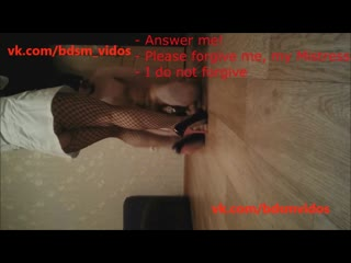 Mistress uma's toilet 8 (english subtitles) russian chastity faceslapping humiliation peeing scat foot fetish home video