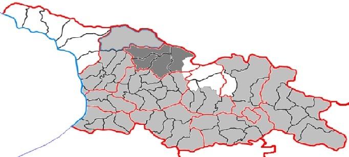 Карта Грузии и Рача-Лечхуми