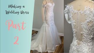 DIY Wedding Dress | Wedding dress with lace appliques 2