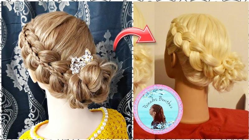 Recogido con trenzas peinados faciles Peinados Benithez La reina de las trenzas