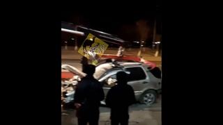 В Актау пьяный водитель врезался в здание пограничной службы во 2 мкр