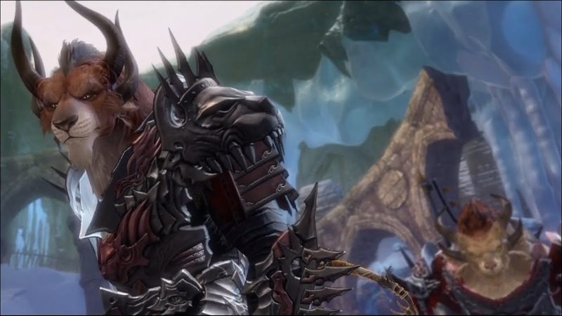 Guild Wars 2 Visions of the Past Steel and Fire Confrontation in Darkrime Delves Cutscene