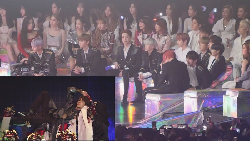 181201 Idols FULL reaction to Intro Fake Love Airplane pt 2 Intro IDOL BTS @ MMA