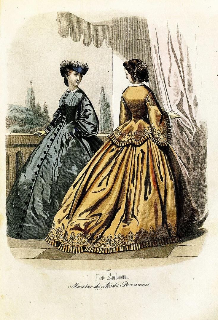 Модная картинка, 1861