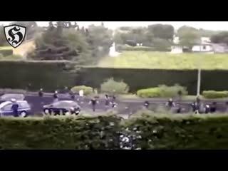 France hooligans fight _ bad gones (lyon) vs south winners (marseille)