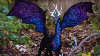 DIY Space Galaxy Dragon Poseable Sculpture Tutorial Как делать дракона.