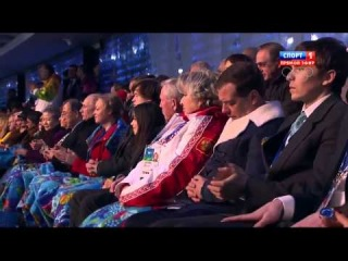 Медведев уснул на открытии Олимпийских игр