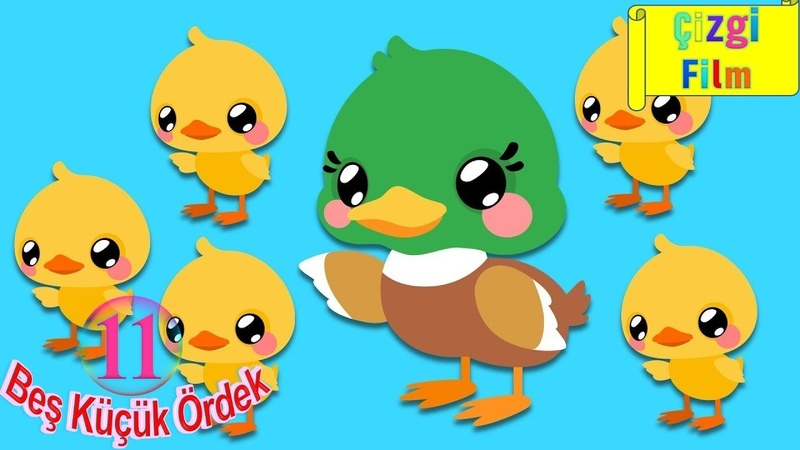 Beş Küçük Ördek Sayıları Öğreten Çocuk Şarkısı Çocuk Şarkıları