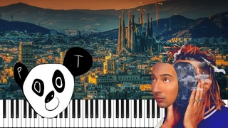 GHALI - BARCELLONA but it's even sadder - Piano Tutorial